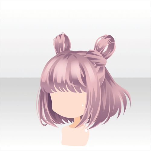 ShortPink Hair With Cute Hairstyle