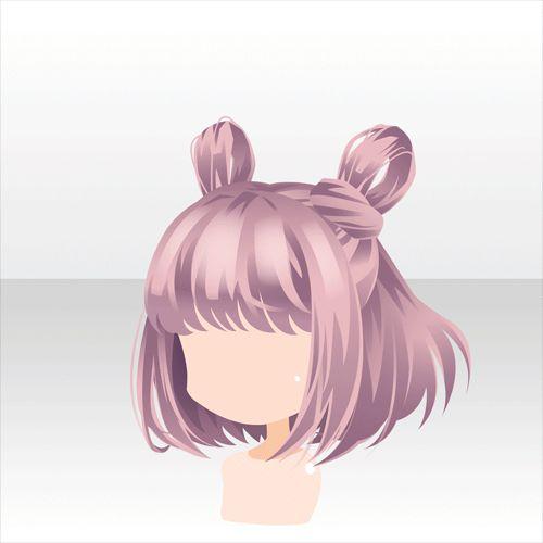 Pink Cute Anime Hair