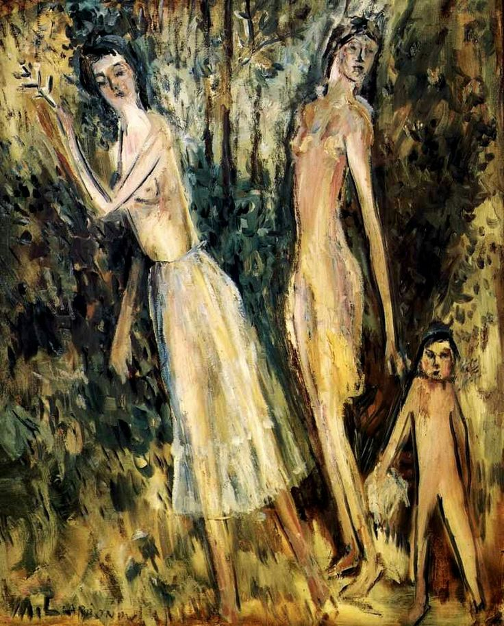 «Весна» 1920 г. Холст, масло 81 х 65 см.  Из бывшего собрания А. К. Томилиной-Ларионовой, Париж, Франция