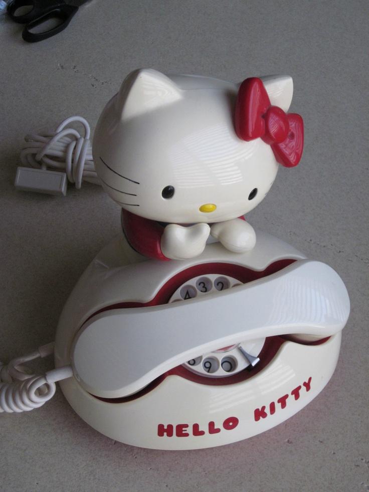 Vintage 1976 Sanrio Hello Kitty Rotary Telephone - Phone works! - Made in Japan   eBay