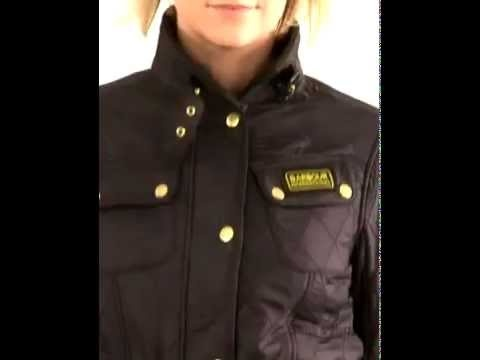 Womens Barbour International Polarquilt Jacket - A beautifully fitted authentic motorcycle design.