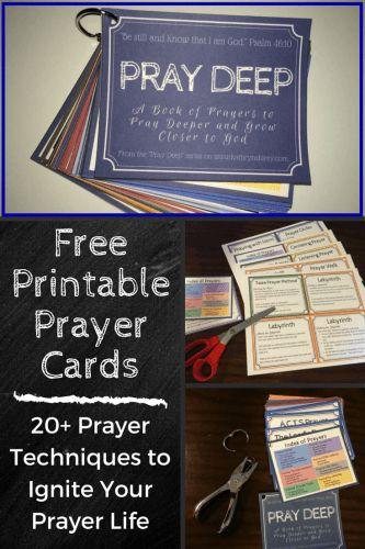 Printable Prayer Cards
