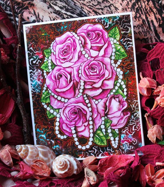 Pink Roses Greeting Card /  Unique card design and vibrant colors will make your gift special and always worth holding on to!