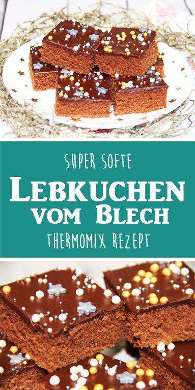 Super Saftige Softe Lebkuchen vom Blech. Thermomix Rezept.