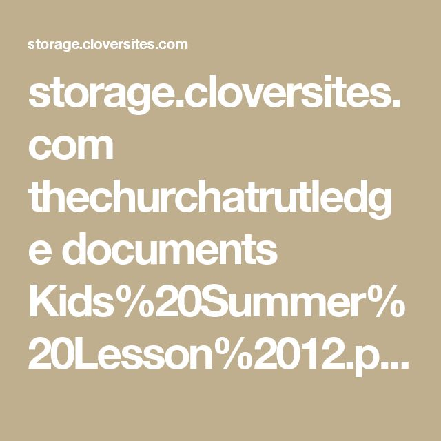 storage cloversites com thechurchatrutledge documents kids