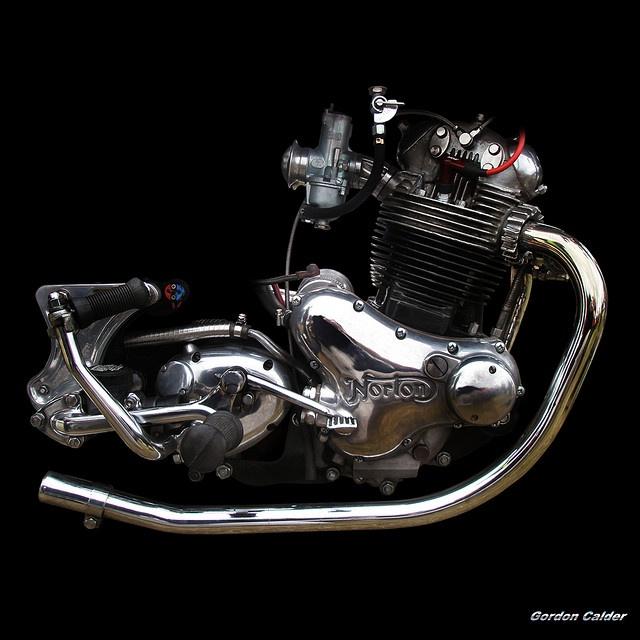 NO 35: CLASSIC NORTON COMMANDO 850 MOTORCYCLE ENGINE by Gordon Calder, via Flickr