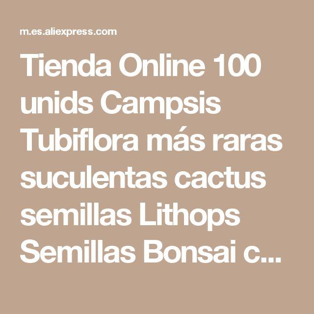 Tienda Online 100 unids Campsis Tubiflora más raras suculentas cactus semillas Lithops Semillas Bonsai cactus Hogar y Gardern Importado Envío libre   Aliexpress móvil