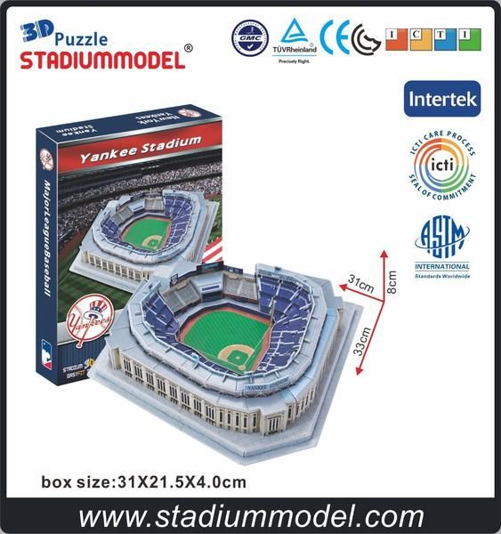 3D Puzzle USA Stadiums MLB NYY Yankees Chicago Cubs Boston Red Sox San Francisco Giants Cowboys american football rugby baseball
