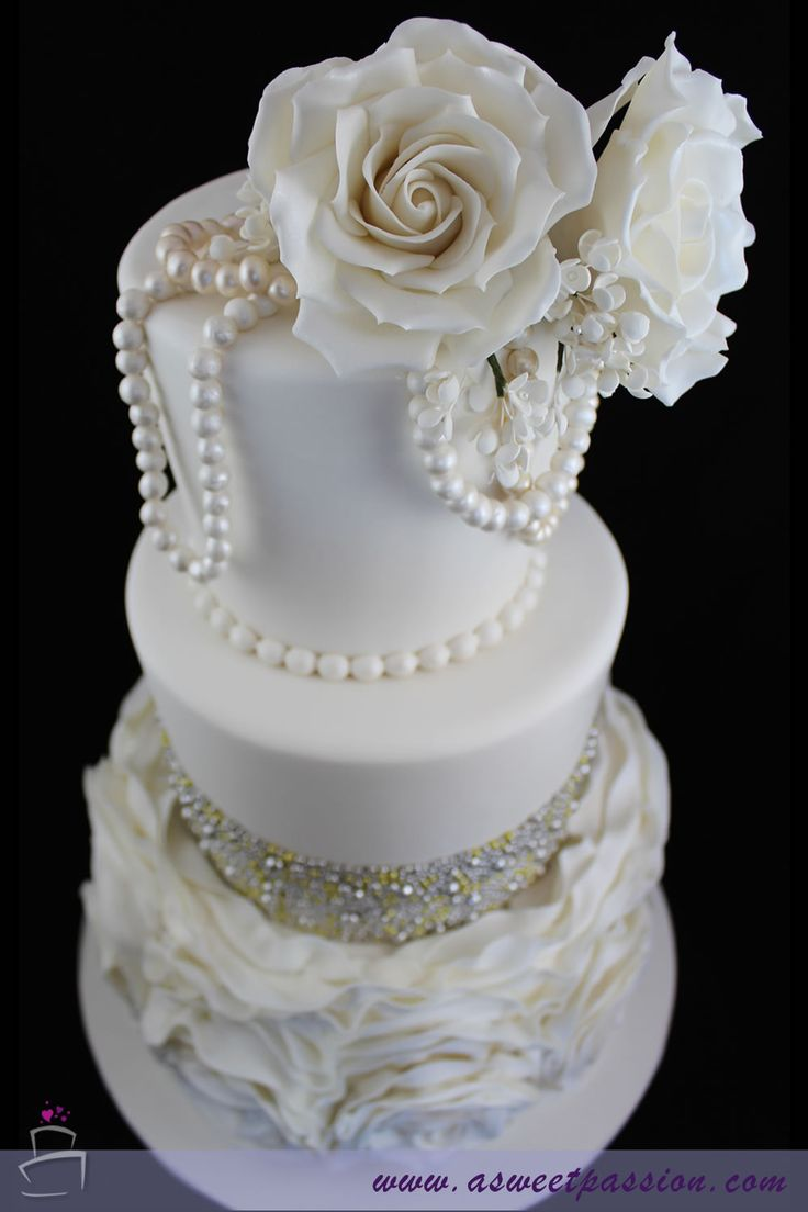 shabby chic bridal shower cakes%0A One of our new favorite cakes  This bridal shower cake is modern and  elegant