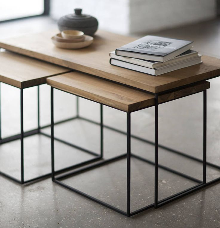 Best 25 penny coffee tables ideas on pinterest bar top for Modern nesting coffee tables