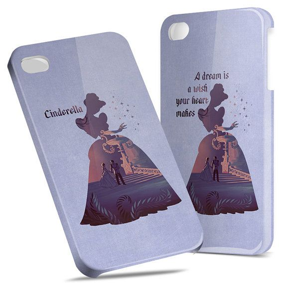 Cinderella Quote Disney - Hard Cover Case iPhone 5 4 4S 3 3GS HTC Samsung Galaxy Motorola Droid Blackberry LG Sony Xperia & more