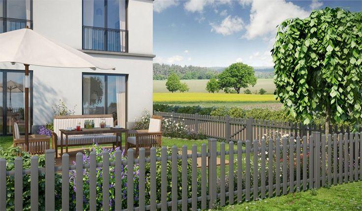 Der Alu Gartenzaun Delft ist in der Farbe Anthrazit Eisenglimmer erhältlich. Ein Aluminium Zaun überzeugt durch ein schönes Design, ein Highlight in jedem Garten. Die Zaunserie besteht aus drei Zaunelementen in den Maßen von 1800 x 803 mm bis 1800 x 753 auf 903 mm. Eine Tür oder ein Doppeltor können nach Belieben kombiniert werden. Diese und weitere Aluminium Gartenzäune finden Sie unter http://www.meingartenversand.de/gartenzaun/aluminium-gartenzaeune.html