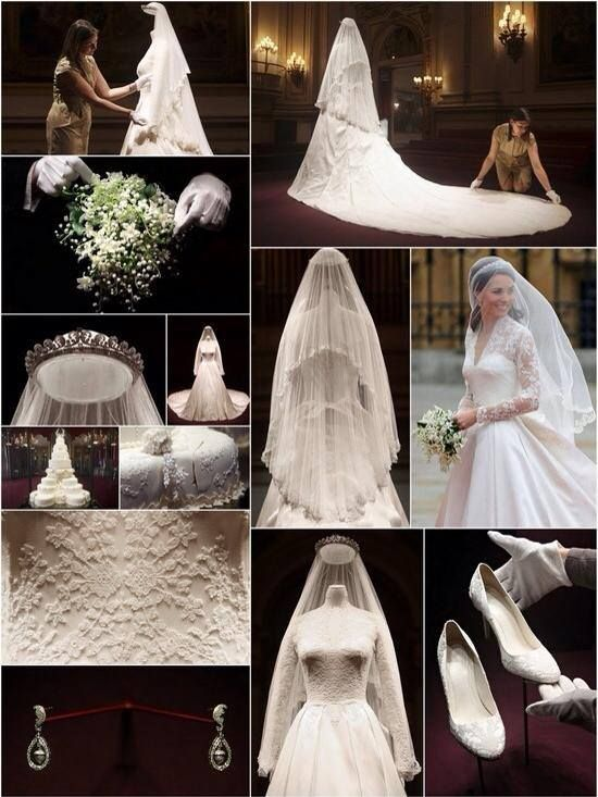 [Doesn't her veil look beautiful from the back?] Katherine, Duchess of Cambridge's wedding dress