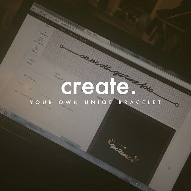 Design your dream bracelet at www.uniqd.com!