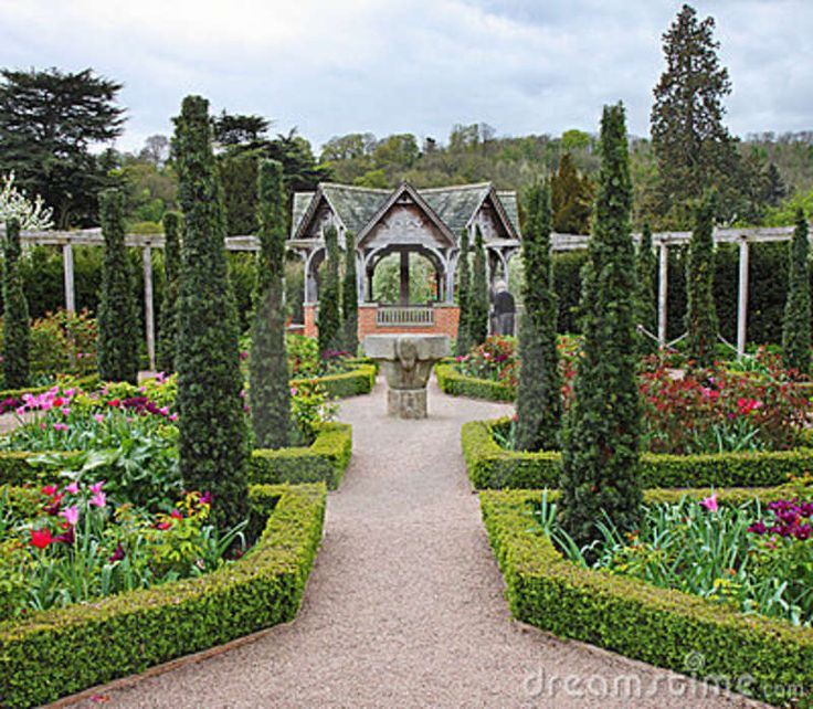 20 best formal english gardens images on pinterest for Formal english garden designs