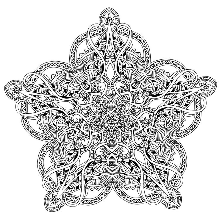 Mystical Mandala Coloring Book Download 40 Best Pages For Adults Images On Pinterest