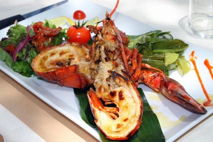 Langouste grillé - Cuisine creole en Guadeloupe