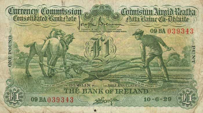 £1 Bank of Ireland