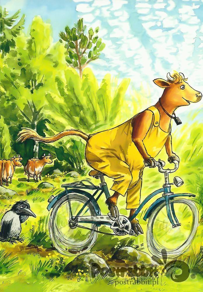 Mama Mu na rowerze
