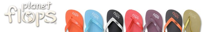 Flip Flops made from natural rubber  harvested in Brazil (the rubber tree is not cut down to extract the natural rubber) Most flip flops are made with synthetic rubber made from crude oil.