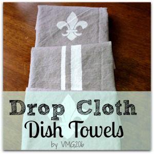 drop cloth projects | VMG206: DIY Drop Cloth Dish Towels