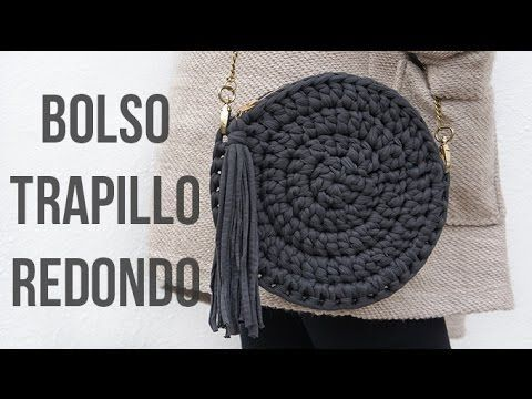 Bolso Redondo / Crochet  bag ¡ Glamour ! - YouTube