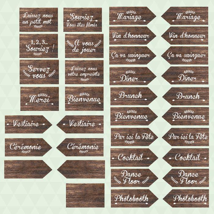 Préférence Les 25 meilleures idées de la catégorie Panneau direction mariage  DR03