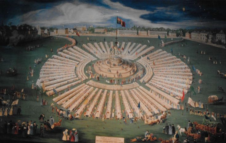 An Artist S Impression Of The Huge Feast In Honour Of