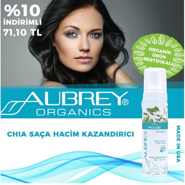 Aubrey Chia Saça Hacim Kazandırıcı Hafif köpüklü yapısı ile, ince telli saçları güçlendirmeye yardımcı olur hacim ve dolgunluk katar, saçları ısıl işlemin olumsuz etkilerinden korur.