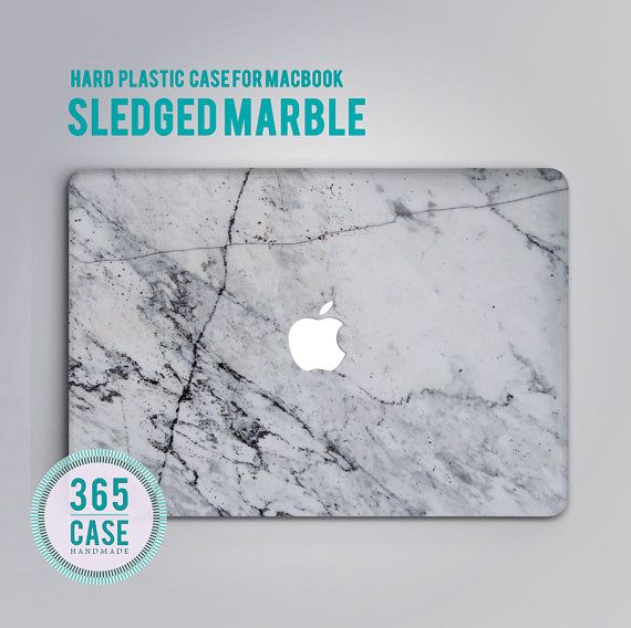 Hard Plastic MacBook pro 13 Case Marble White Macbook by 365case