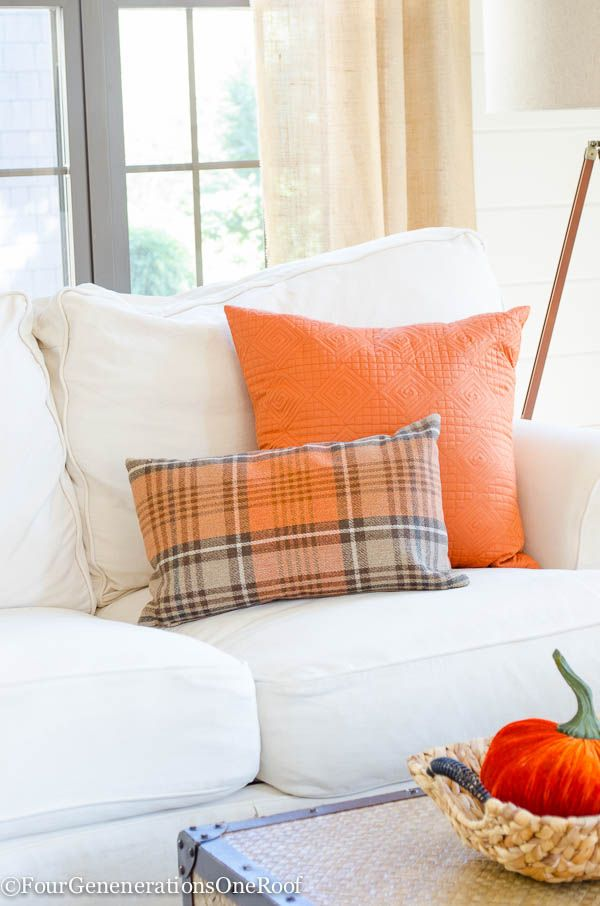 Fall Decorating Ideas {Finding Fall Home Tour 2015} Fall Pillows