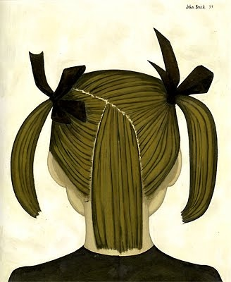 Little girl's head (Vicky) 1955 John Brack
