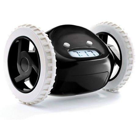 Rosenberry Rooms has everything imaginable for your child's room! Share the news and get $5 OFF your purchase!  Clocky Rolling Alarm Clock in Black #rosenberryrooms