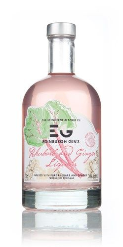 Edinburgh Gin's Rhubarb Liqueur - delicate pink colour looks so tasty! #ScotFood #Gin
