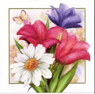 Borboleta Azul: Flores