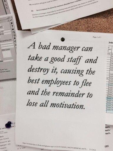 A bad manager can take a good staff and destroy it causing the best employees to flee and the remainder to lose all motivation.