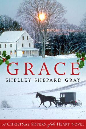 Grace (Sisters of the Heart #4) by Shelley Shepard. It's Christmastime at the Brenneman Bed and Breakfast, and everyone is excited about closing down for the holidays. But when two unexpected visitors appear seeking shelter, the family's commitment to hospitality is tested.  Katie is determined to learn the truth about these two strangers...all while keeping her own secret safely hidden away.  All is revealed when a snowstorm traps them at the inn.