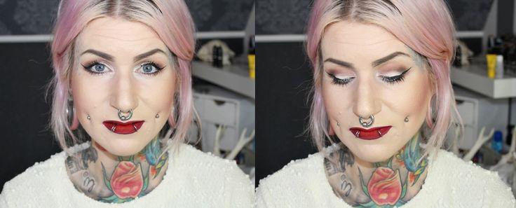 Schlupflider schminken Tutorial, Augen größer schminken - YouTube