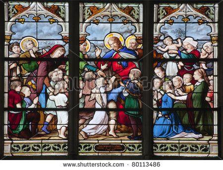 Paris - Windowpane From Saint Severin Gothic Church - Jesus With ...