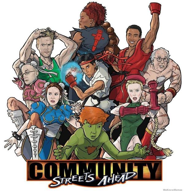 See the Community Cast as Street Fighter Characters