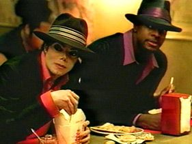 "Michael Jackson and Chris Tucker in the ""You Rock My World"" music video  Photo: Sony Music"