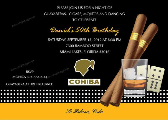 Cigar Box Party Invitation 25 Quantity  150/ea by SocialImagesInc, $37.50