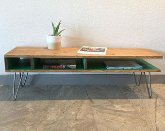 Cantilever Coffee Table Modern Mid Century Hairpin Legs Desk Tv Entertainment Media Cabinet Console Stand Sto Coffee Table Table Modern Coffee Tables