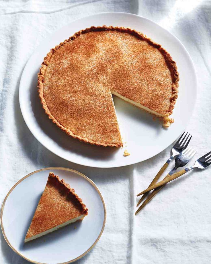 Milk Tart with Brown-Sugar Crust