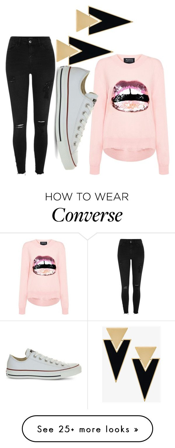 """its almost friday✌"" by shalinea on Polyvore featuring Markus Lupfer, River Island, Converse and Yves Saint Laurent"