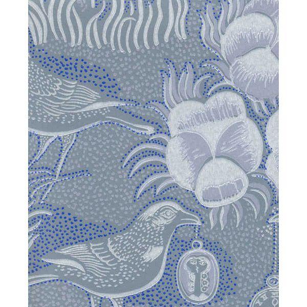 Kiurujen yö wallpaper, blue-grey, by Pihlgren & Ritola.
