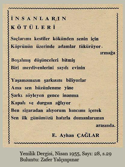 * Ece Ayhan Çağlar