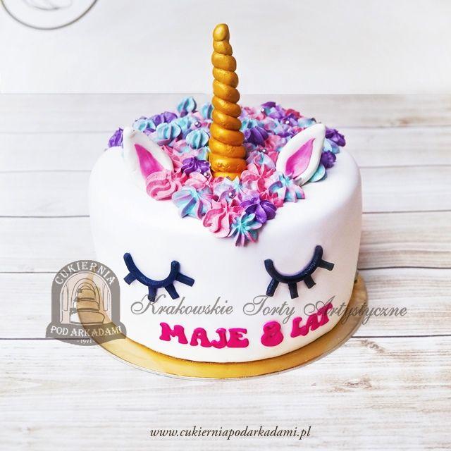 214BD Tort jednorożec z kwiecistą grzywą. Unicorn cake.