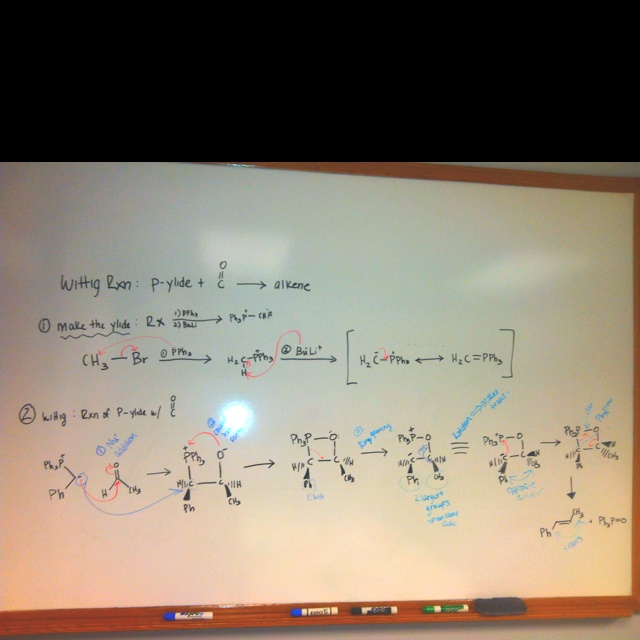 My life summed up the in wittig reaction of aldehydes an ketones.