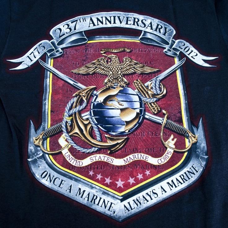 Semper Fi! Once a marine, Marine corps birthday, Happy